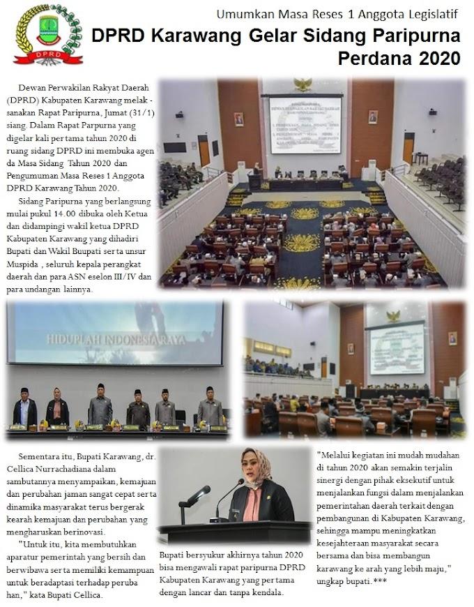 DPRD Karawang Gelar Sidang Paripurna Pertama 2020