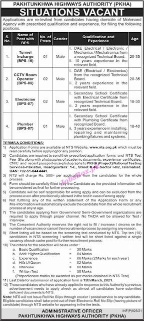 pakhtunkhwa-highways-authority-pkha-jobs-2021-apply-via-nts