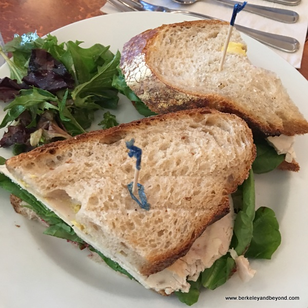 turkey sandwich at First St. Cafe in Benicia, California