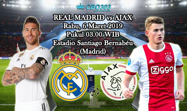 Prediksi Tepat Liga Champions Antara Real Madrid vs Ajax Amsterdam (6 Maret 2019)