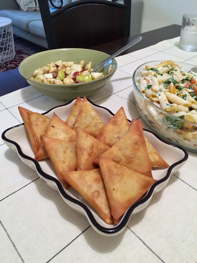 Lebanese flavour Inspired Chicken Samosas