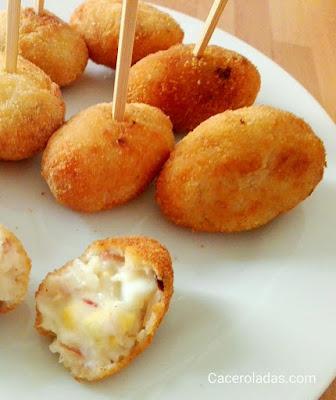 Croquetas de cocido con huevo duro