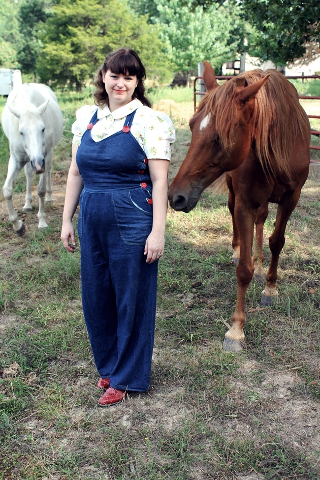 Wearing History Overalls 1940s farm and cowgirl style