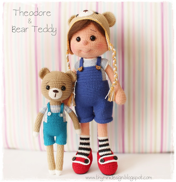 Amigurumi Theodore Doll and Teddy Bear