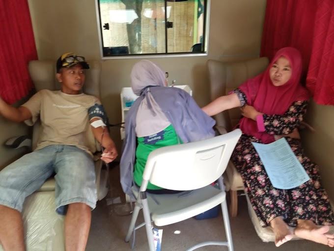 Antusias Donor Darah di Tengah Pademi Covid -19 Puluhan Warga Kampung Kidul Besuk Ajung
