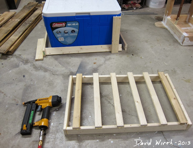 basic cooler stand frame, wood, build, make