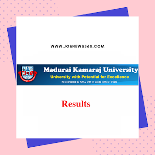 Madurai Kamaraj University Results Nov Dec 2018 Jan 2019 Live Updates (UG/PG)