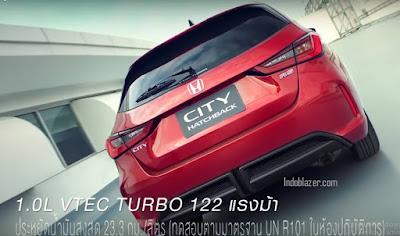 Honda city hatchback hibrid turbo 1000 cc versi thailand