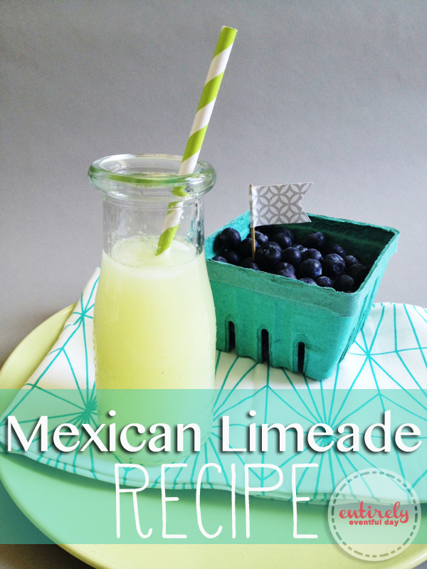 Sparkling Mexican Limeade Recipe. So refreshing! entirelyeventfulday.com #recipe #drinks #summer