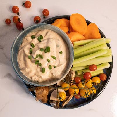 Curried Vegetable Dip with Vegetables