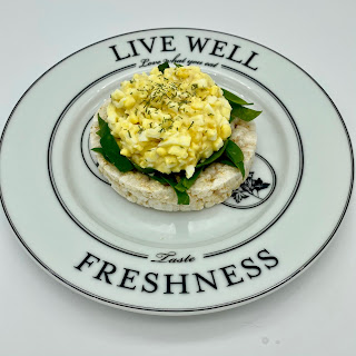 Egg Salad with Shredded Spinach Served Up on Celebrate