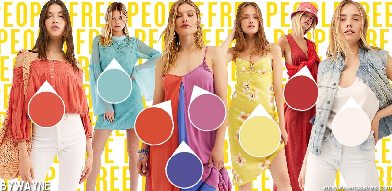 Colores de moda primavera verano 2020.