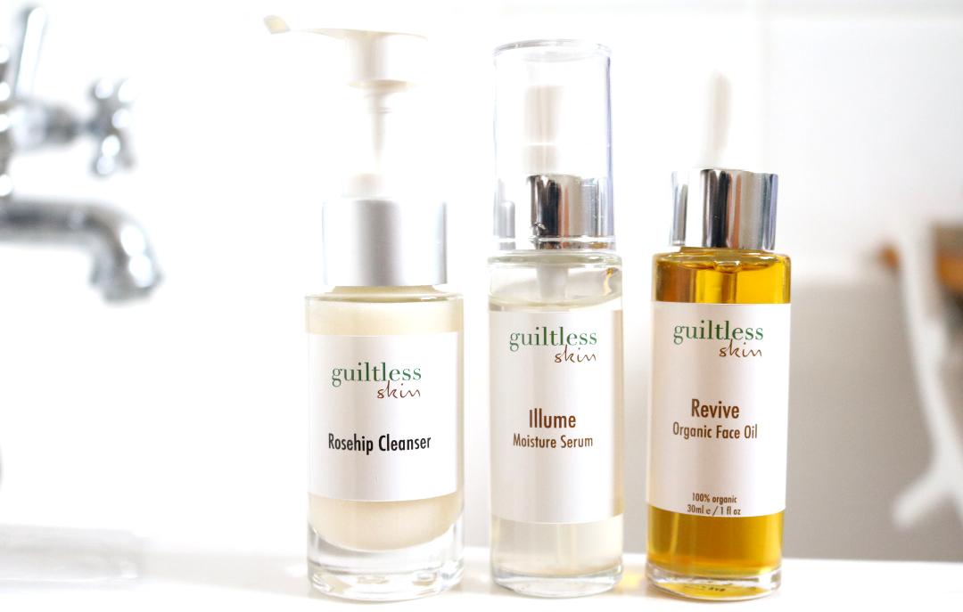 Guiltless Skin - Rosehip Cleanser, Illume Moisture Serum & Revive Organic Face Oil review