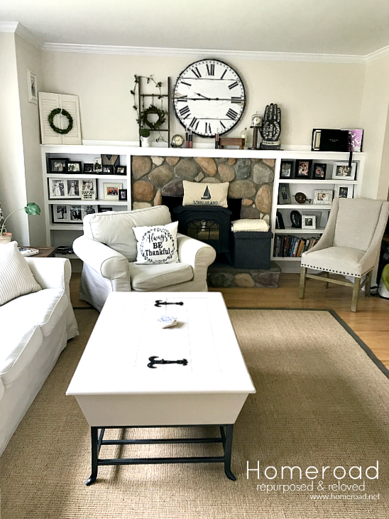 Decorating a neutral farmhouse living room