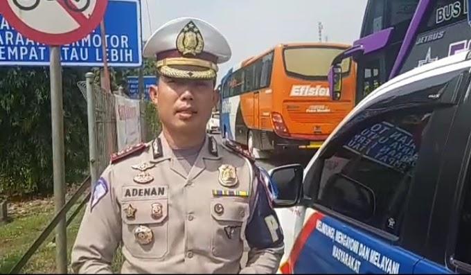 Arus Balik Lebaran 2019, Satuan PJR Polda Banten Laksanakan Gatur di GT Merak