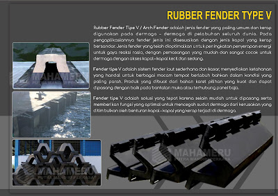 Rubber Fender Tipe V 1000 H