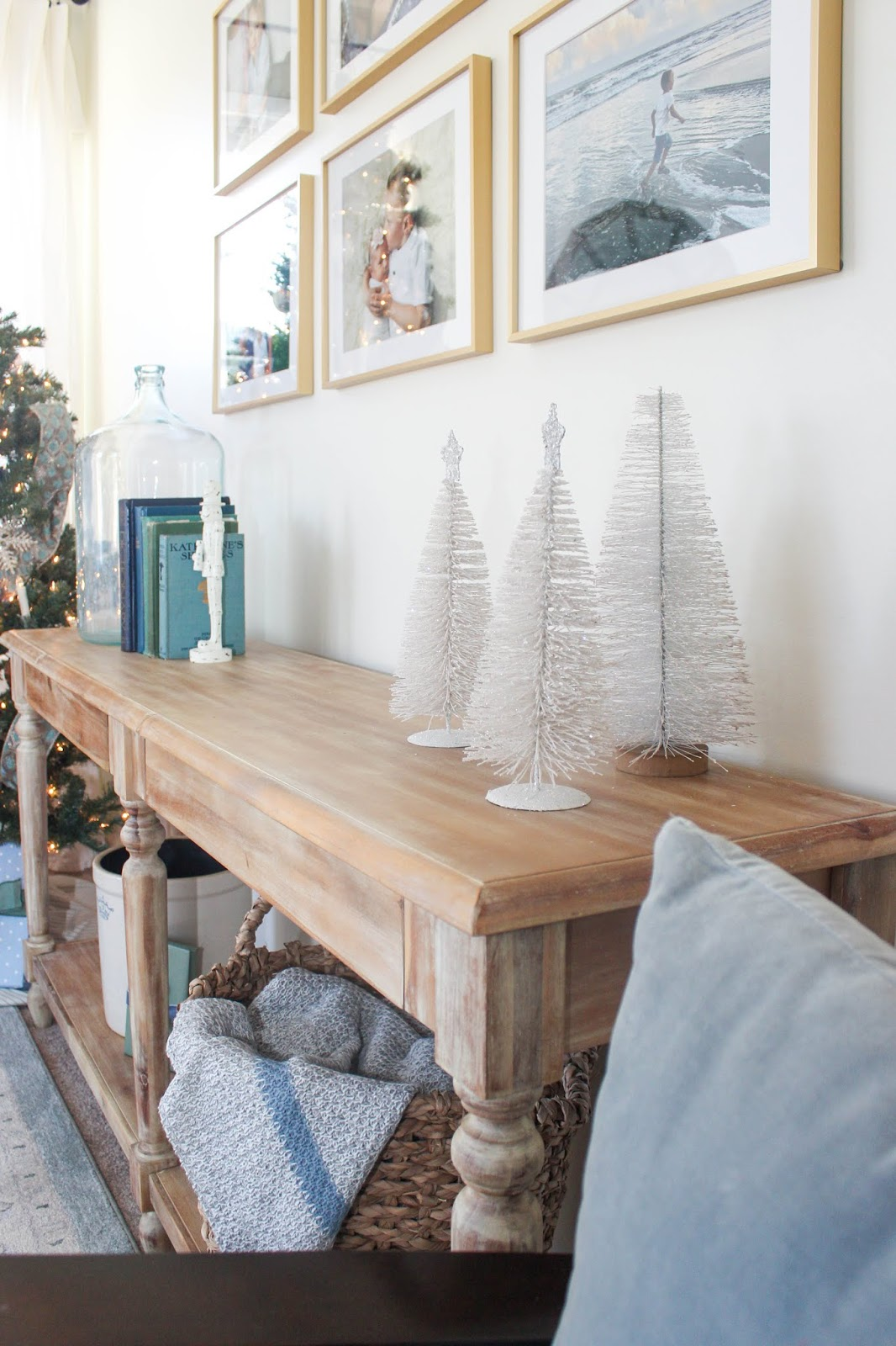 decorating with bottle brush christmas trees