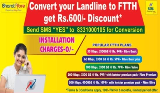 bsnl-offers-landline-connection