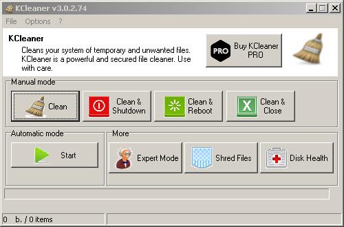 تسريع الكمبيوتر وتنظيفه ببرنامج KCleaner