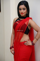 Aasma Syed in Red Saree Sleeveless Black Choli Spicy Pics ~  Exclusive Celebrities Galleries 016.jpg