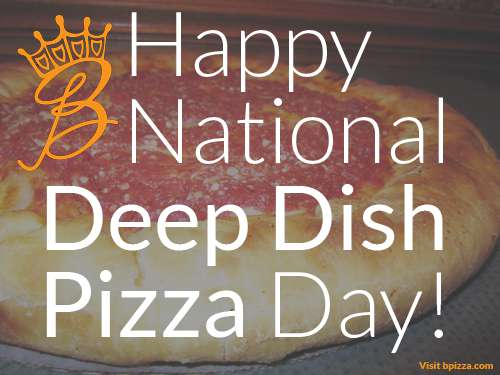 National Deep Dish Pizza Day Wishes Images