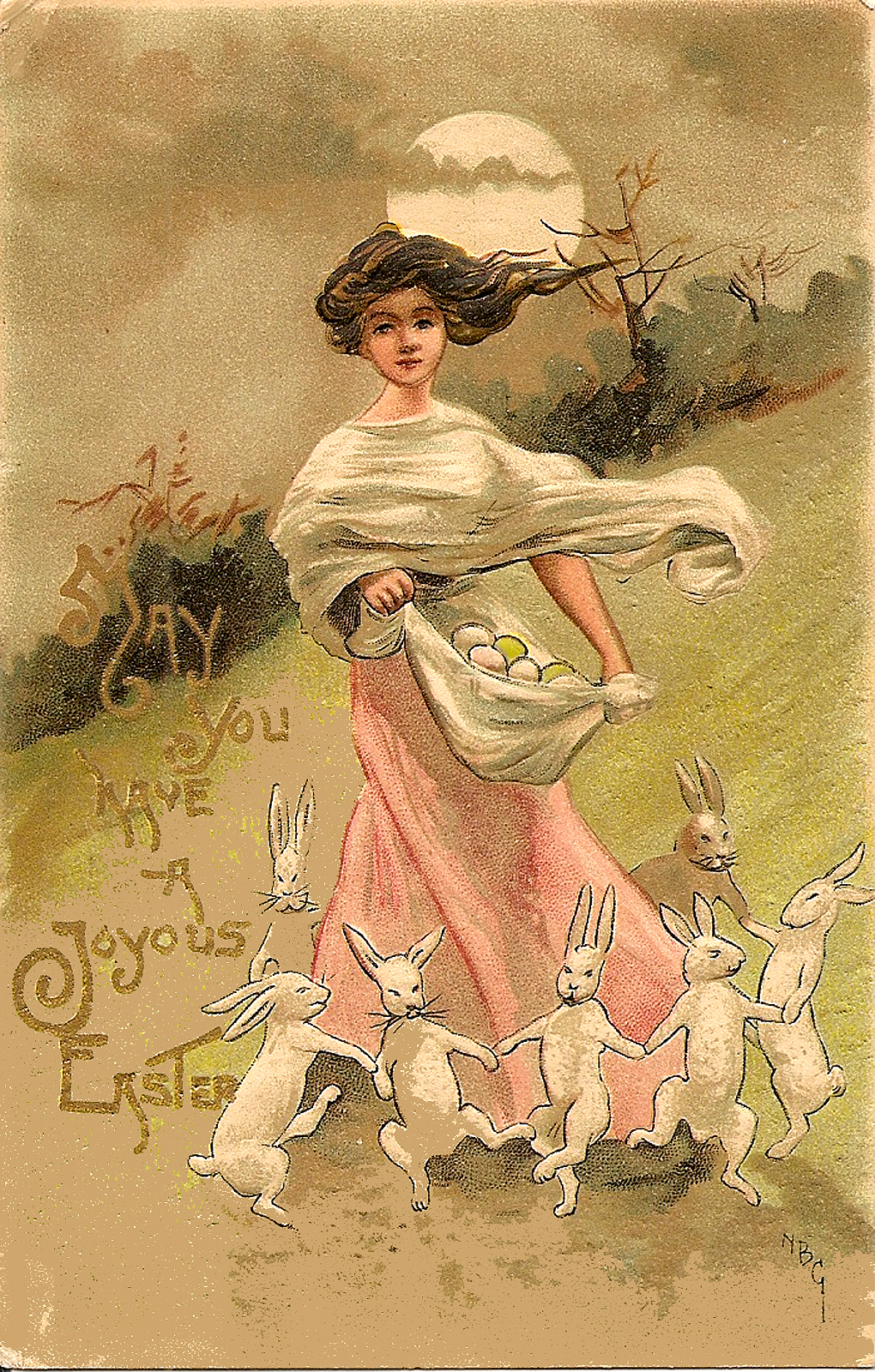 Twenty Bizarre Old Easter Cards Popthomology