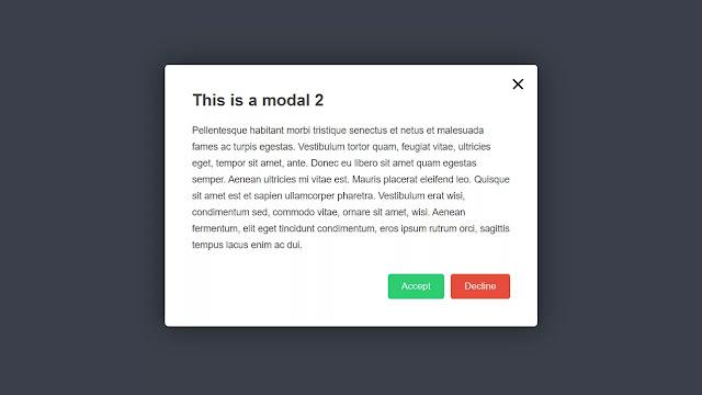 Top 6 HTML & CSS Modal Dialog Box Examples