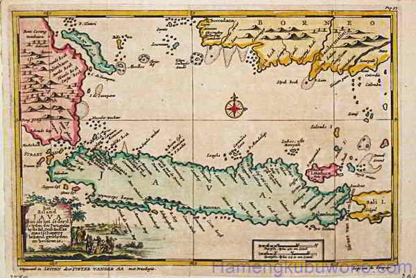 Peta Pulau Jawa Bersejarah - Het Eiland Java Karya  Aa, P. van der. 1707