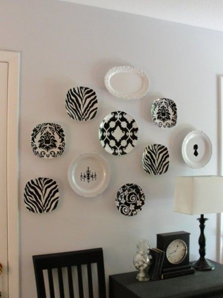 Decorar paredes con platos