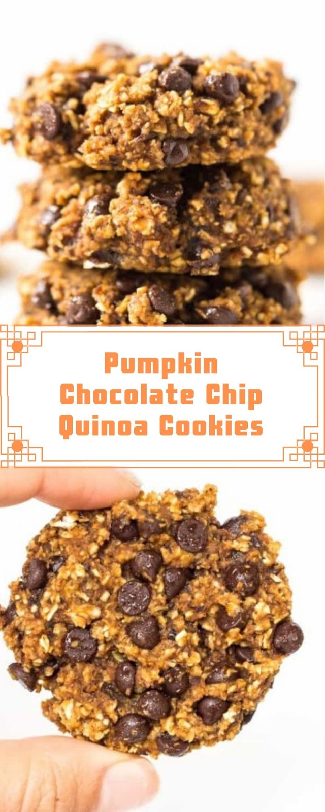 Pumpkin Chocolate Chip Quinoa Cookies