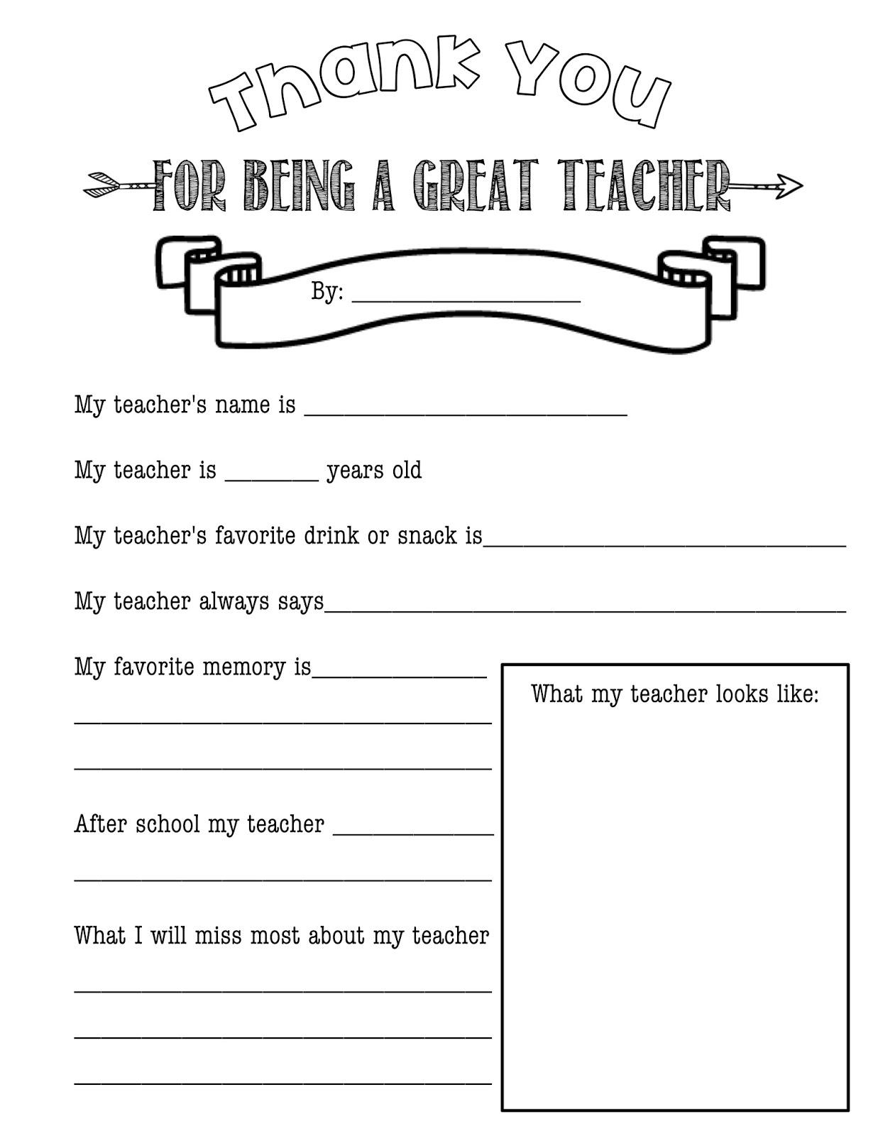 Teacher Appreciate T Ideas