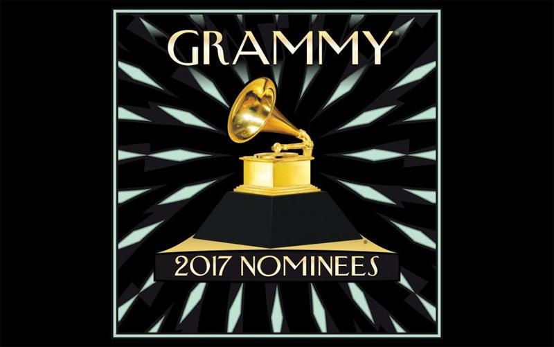 Full list of nominations for 2017 Grammy Awards