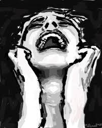 A crying lady, depression