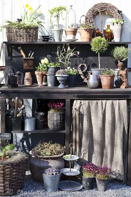 Take 5 Vintage Cottage Chic Upcycled Potting Benches For