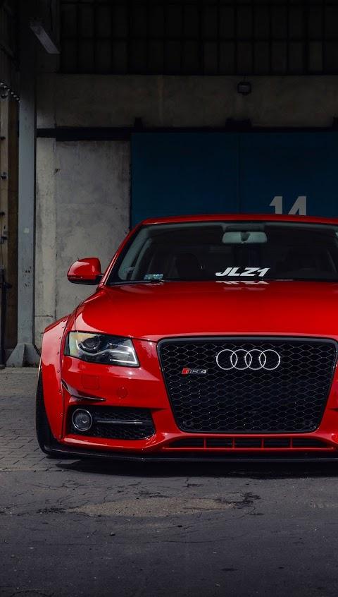 Hình Nền Ảnh Ô Tô Đẹp Audi Thể Thao Màu Đỏ