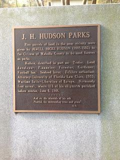 Crawfordville Florida Hudson Park Marker