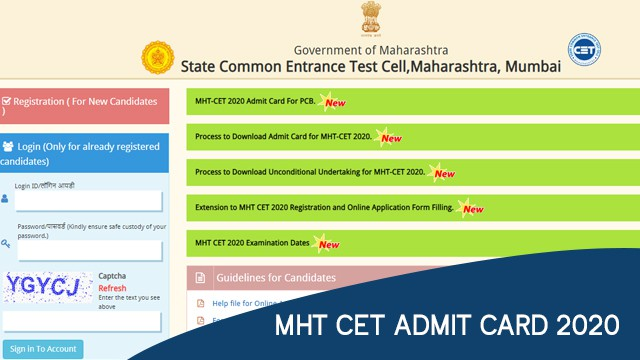 MHT CET Admit Card 2020 Released, here's how to download mhtcet2020.mahaonline.gov.in