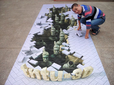 Creative and Cool 3D Chalk Drawings (10) 9