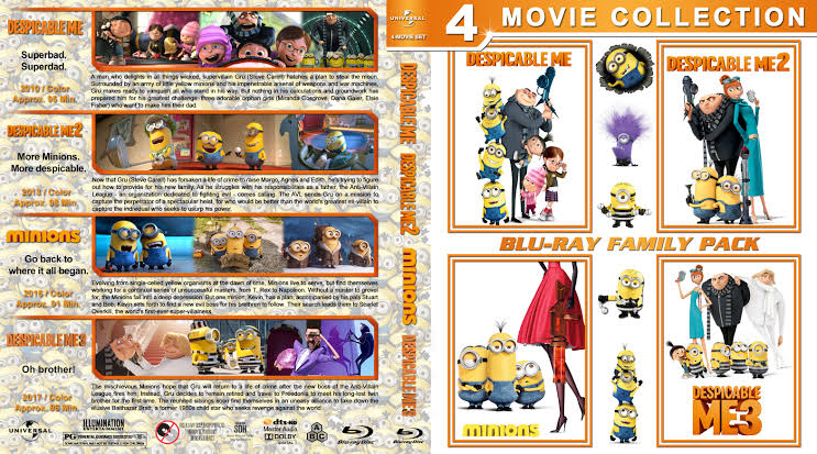 Despicable Me Minions Collection 2010 2017 Blu Ray 720p Dual