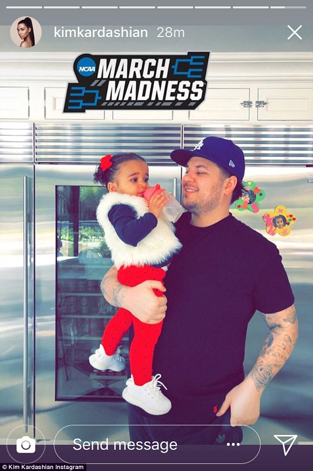 Rob Kardashian shows off slimmed down physique in new photos of  himself and and Dream as he turns 31