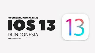 Fitur Dan Jadwal Rilis iOS 13 Di Indonesia
