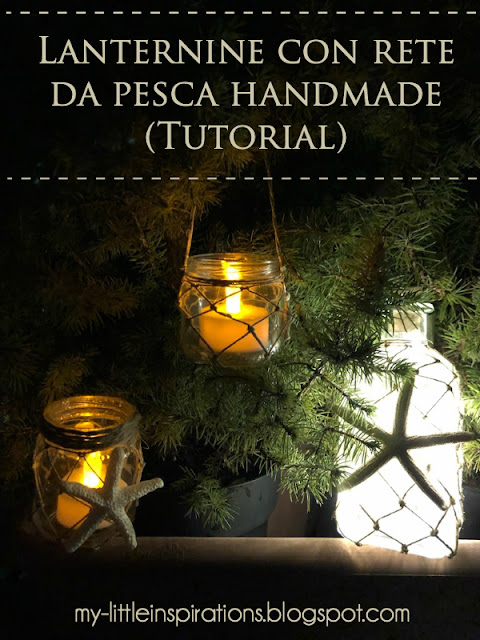 Lanternine in stile Coastal con rete da pesca handmade - titolo ITA - MLI