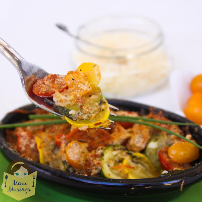 Parmesan Zucchini Gratin_menumusings.com