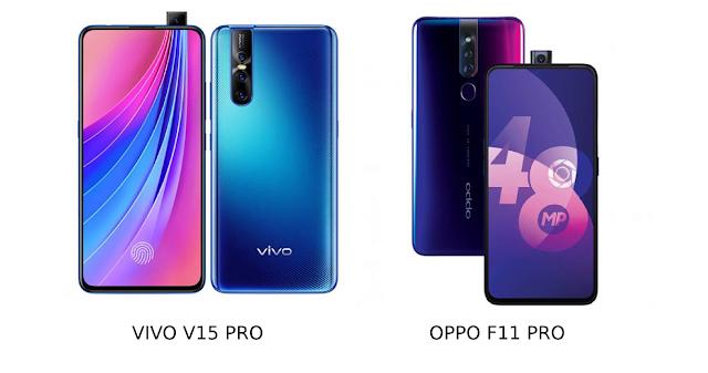 Ini Dia Perbedaan Spesifikasi Vivo V15 Pro dengan Oppo F11 Pro