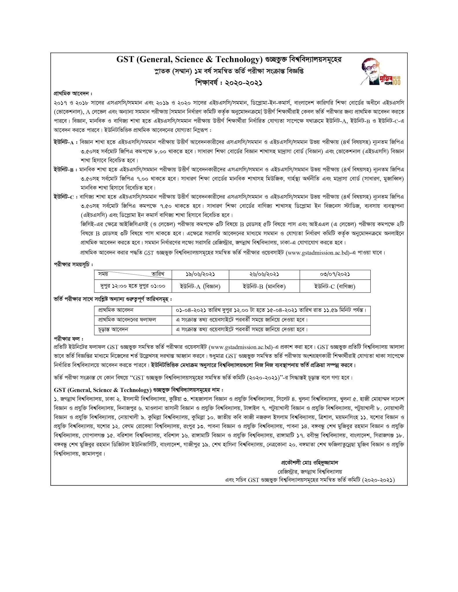 gstadmission Notice