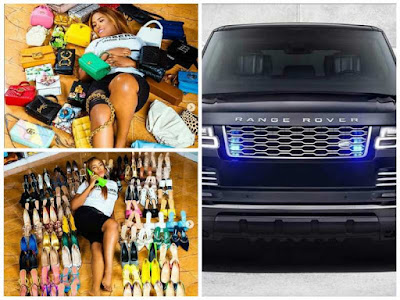 Fans React As Linda Ikeji Celebrates Birthday With 85 Designer Shoes, 35 Bags, And Range Rover