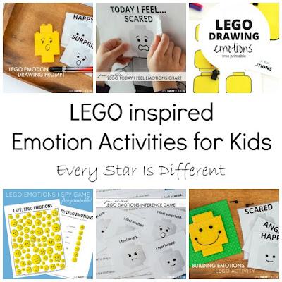 LEGO inspired Emotion Activities for Children