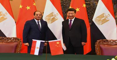 السيسى ورئيس الصين