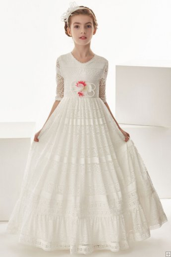 http://www.aislestyle.co.uk/vintage-jewel-neck-34-sleeved-lace-first-communion-dress-with-flower--p-7783.html