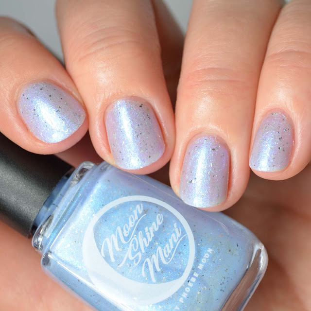 ethereal blue multichrome nail polish swatch